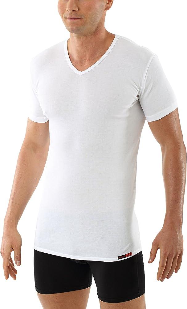ALBERT KREUZ Camiseta Interior para Hombre con Cuello de Pico y de ...