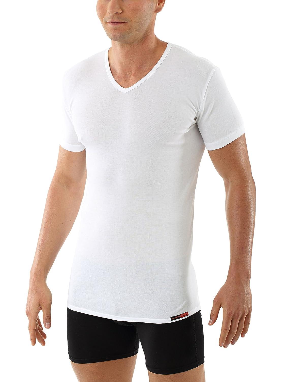 Albert Kreuz Men's Business undershirt Berlin v-neck shortsleeves white