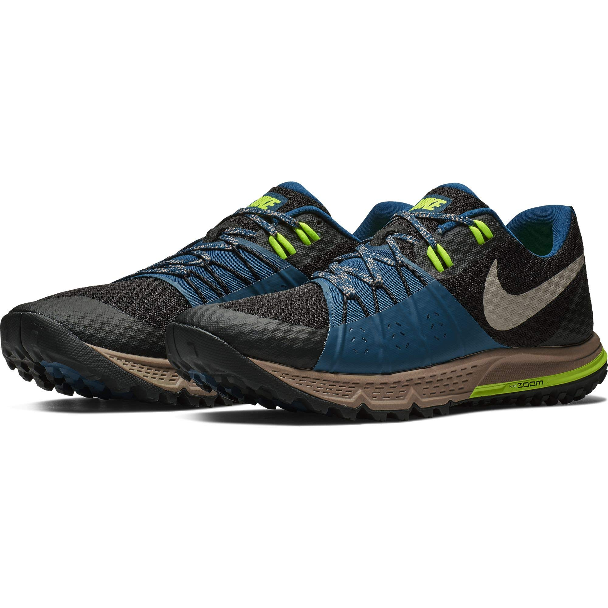 93a6143e07b Galleon - Nike Men s Air Zoom Wildhorse 4 Running Shoe Black Desert  Sand-Blue Force 9.5