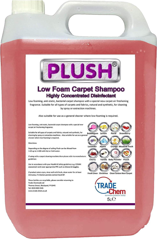 Desodorizador y champú Plush concentrado para alfombras, 5 litros ...