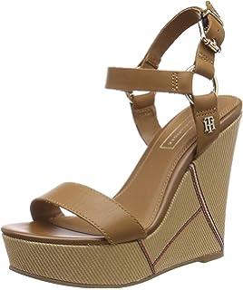 fb2db3fe804 Tommy Hilfiger Women s Tommy Raffia Heeled Sandal Platform  Amazon ...