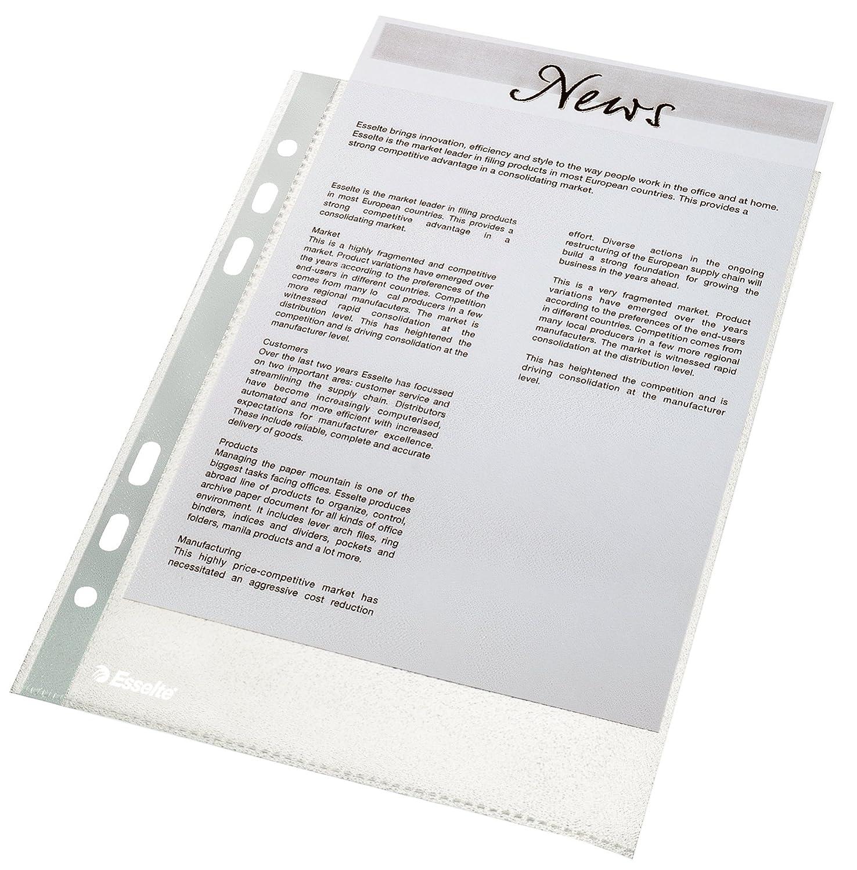 Esselte Economy - Fundas de plástico para documentos (A5, 100 unidades), transparente: Amazon.es: Oficina y papelería