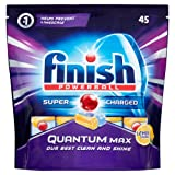 Finish Quantum Max Dishwasher Tablets,  Lemon Sparkle, 1 x 45 (45 Tablets)