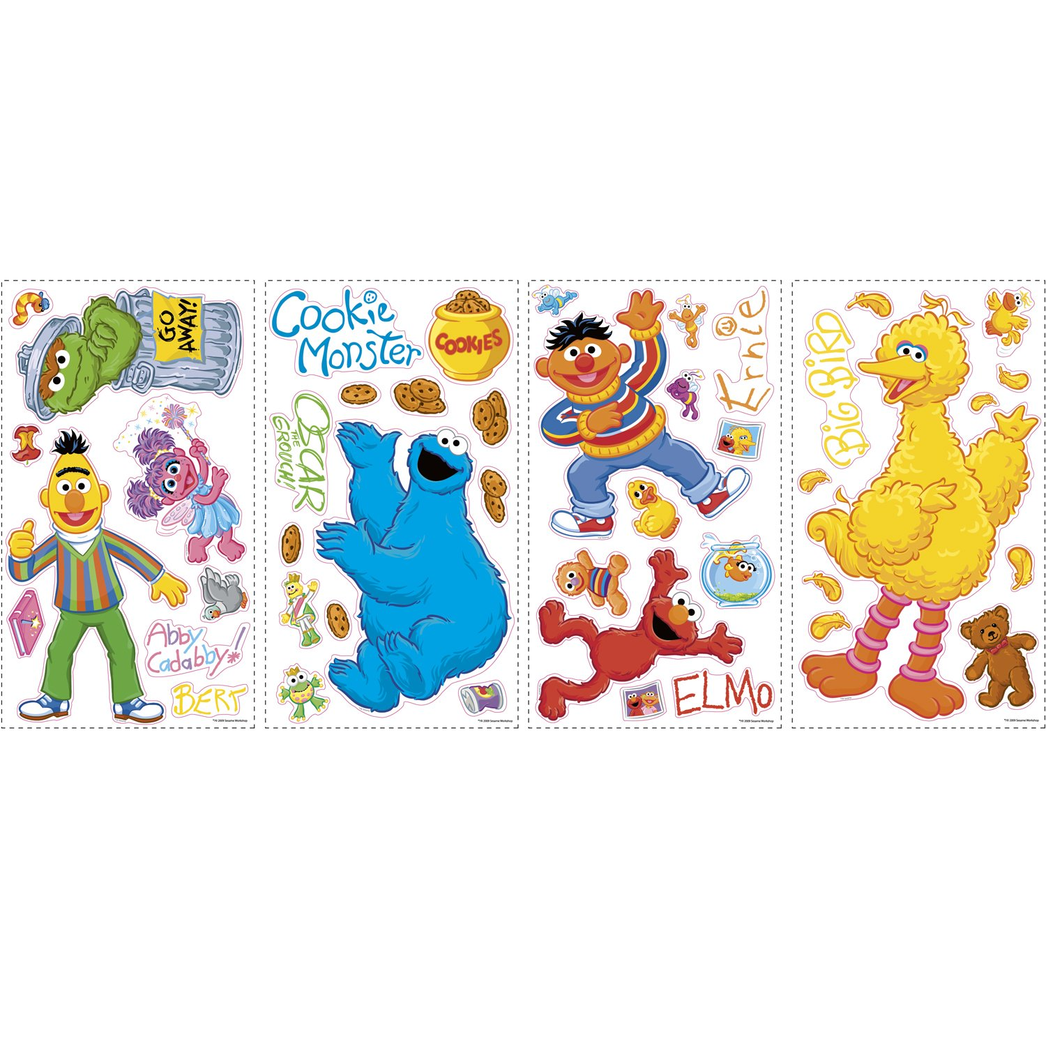 Marvelous RoomMates RMK1384SCS Sesame Street Peel U0026 Stick Wall Decals   Wall Decor  Stickers   Amazon.com