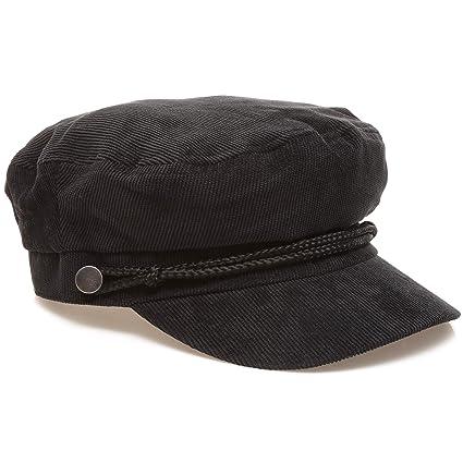 MIRMARU Women s Winter Greek Sailor Fisherman Cabbie Cap Newsboy Baker boy  hat with Elastic Band (Corduroy 92f97b6d3c4a
