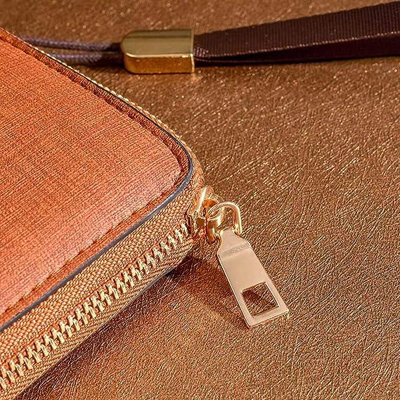Amazon.com: Monedero de mano para mujer, multifunción, piel ...