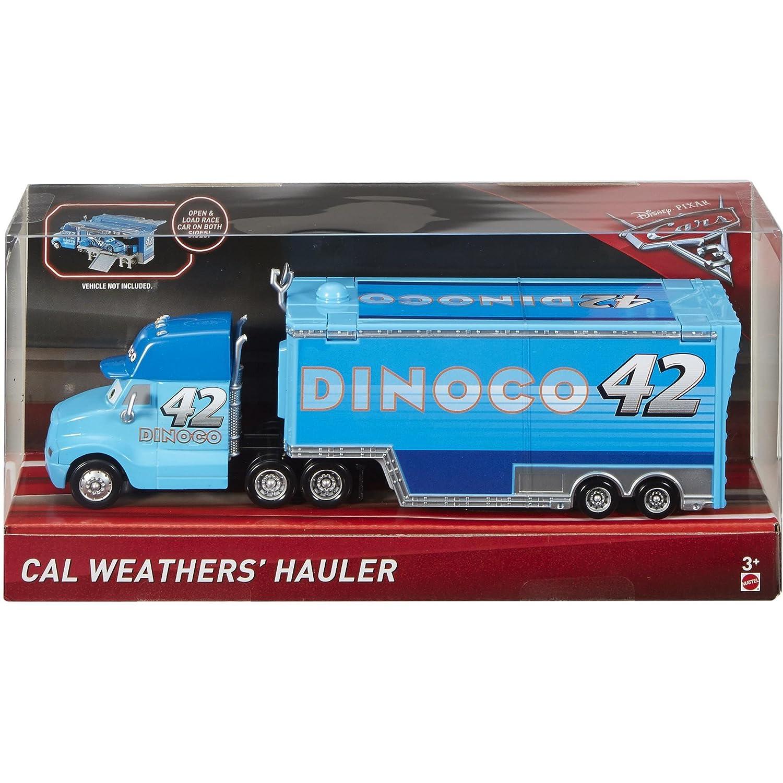 Disney Pixar Cars 3 Cal Weather's Hauler (Dinoco) Mattel Toys FCL73