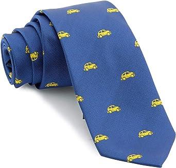 Cencibel Smart Casual Corbata Coches (Fondo Azul Coches Celestes): Amazon.es: Ropa y accesorios