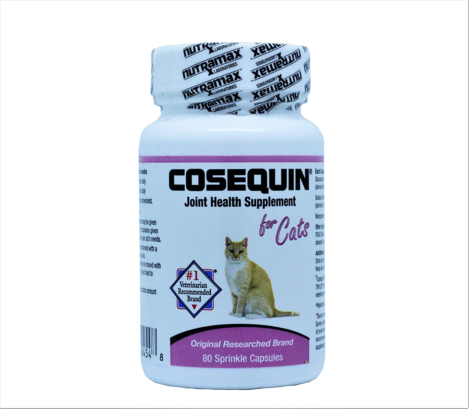 Amazon com : Cosequin for Cats 80 Sprinkle Capsules Feline Cat Joint