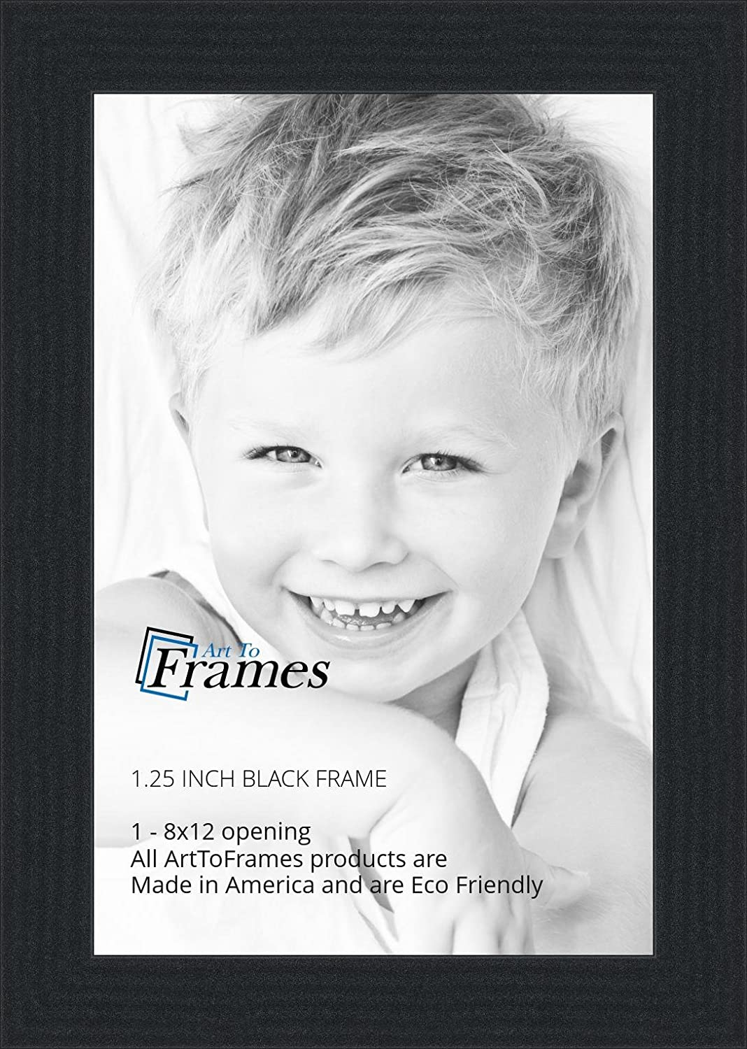 Amazon.com - ArtToFrames 8x12 inch Black Picture Frame, WOMFRBW72079 ...
