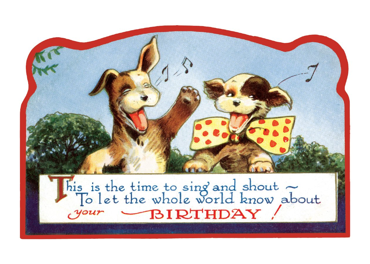 Singing Dogs Birthday Greeting Cards Import 1 Jan 2017