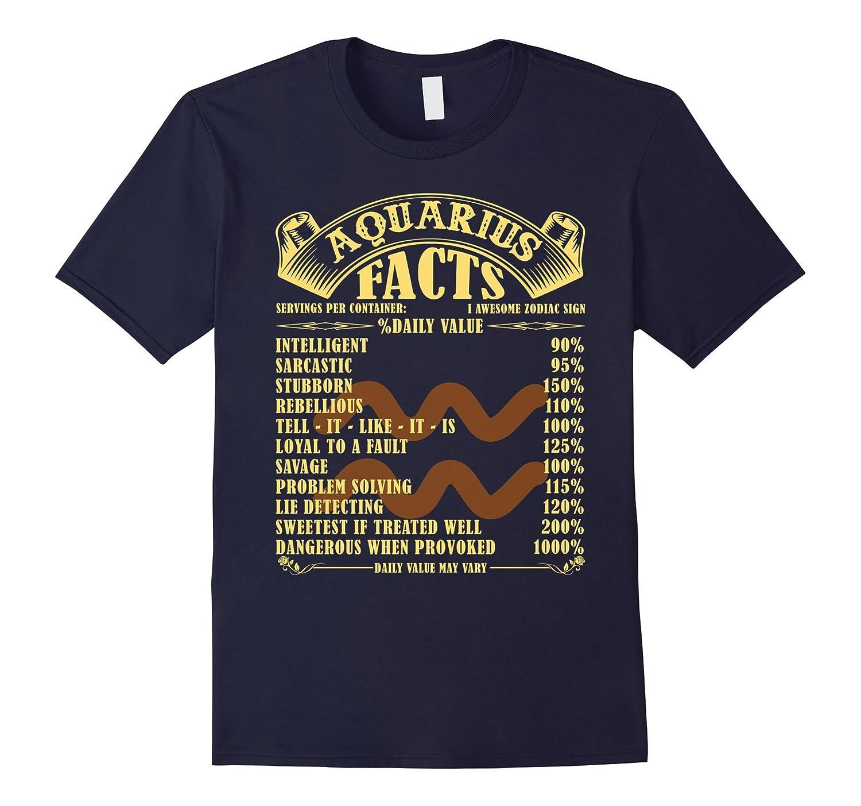 Aquarius Facts Sign T Shirt-CD