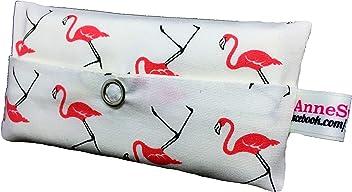 Taschentücher Tasche Flamingo weiß Design Adventskalender Befüllung Wichtelgeschenk Mitbringsel Give Away Mitarbeiter Weihnachten Abschied Geschenk