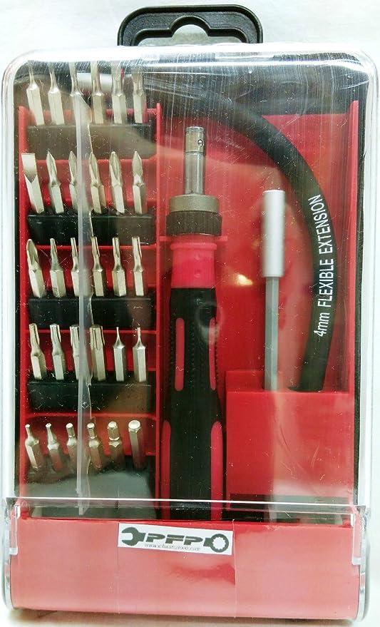 30 diferentes brocas y destornillador + eje Flexible ...