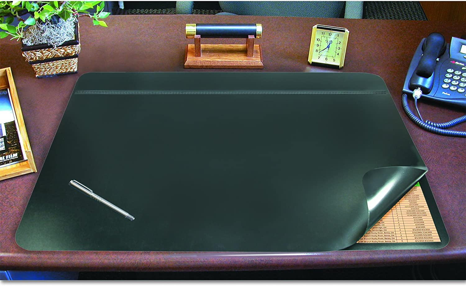 "Artistic Office Products 19"" x 24"" Hide-Away Lift Top Desk Organizer Pad - Helps Meet HIPAA Compliance, Black"