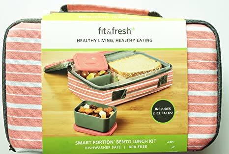64115a58dbbd Amazon.com: Smart Portion Bento Lunch Kit: Kitchen & Dining