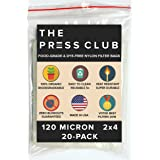 120 Micron Rosin Tea Bag Press Nylon Filter • 2 by 4 inch • 20 Pack • Zero Blowout Guarantee • All Micron & Sizes Available