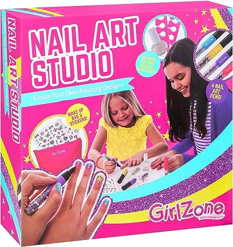 GirlZone Geschenke für Mädchen Einhorn Nagelstudio Kinder