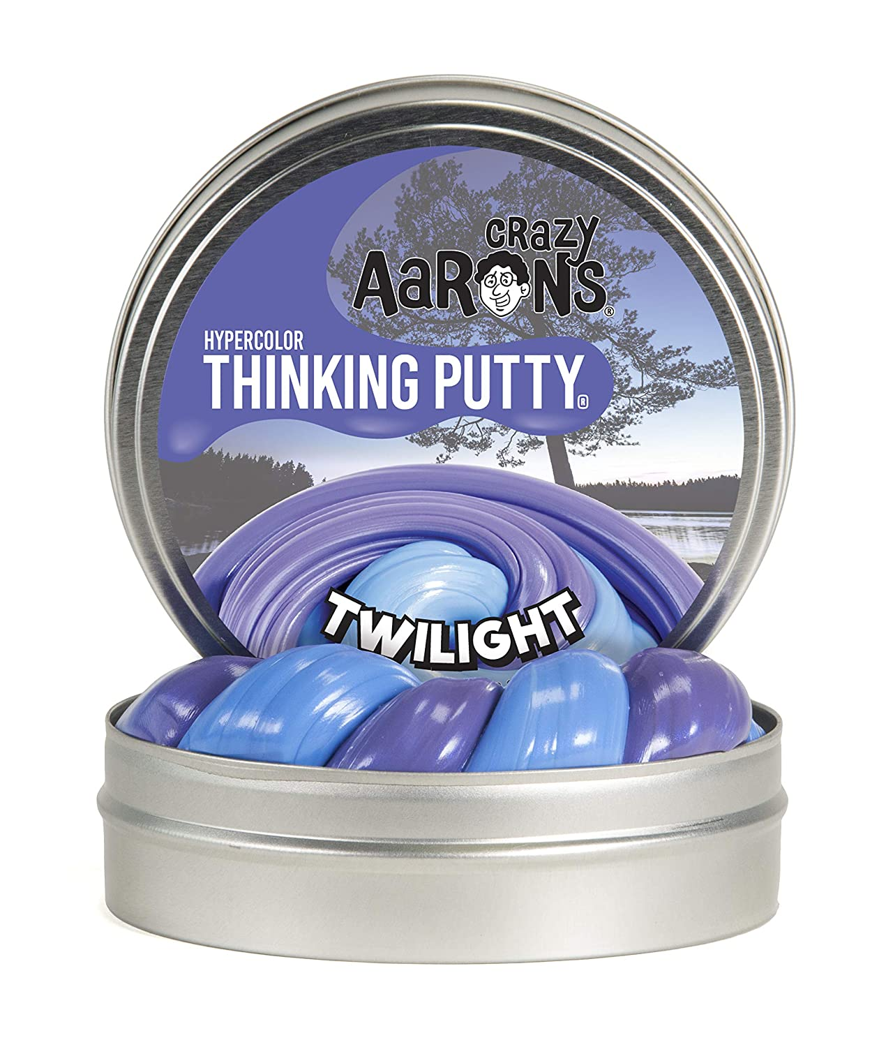 Crazy Aaron's Thinking Putty, 3.2 Ounce, Hypercolor Twilight