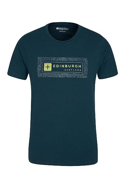 513f6e96a4d40b Mountain Warehouse Edinburgh Contour Map Herren-T-Shirt - Leichtes und  Cooles Sommer Tee