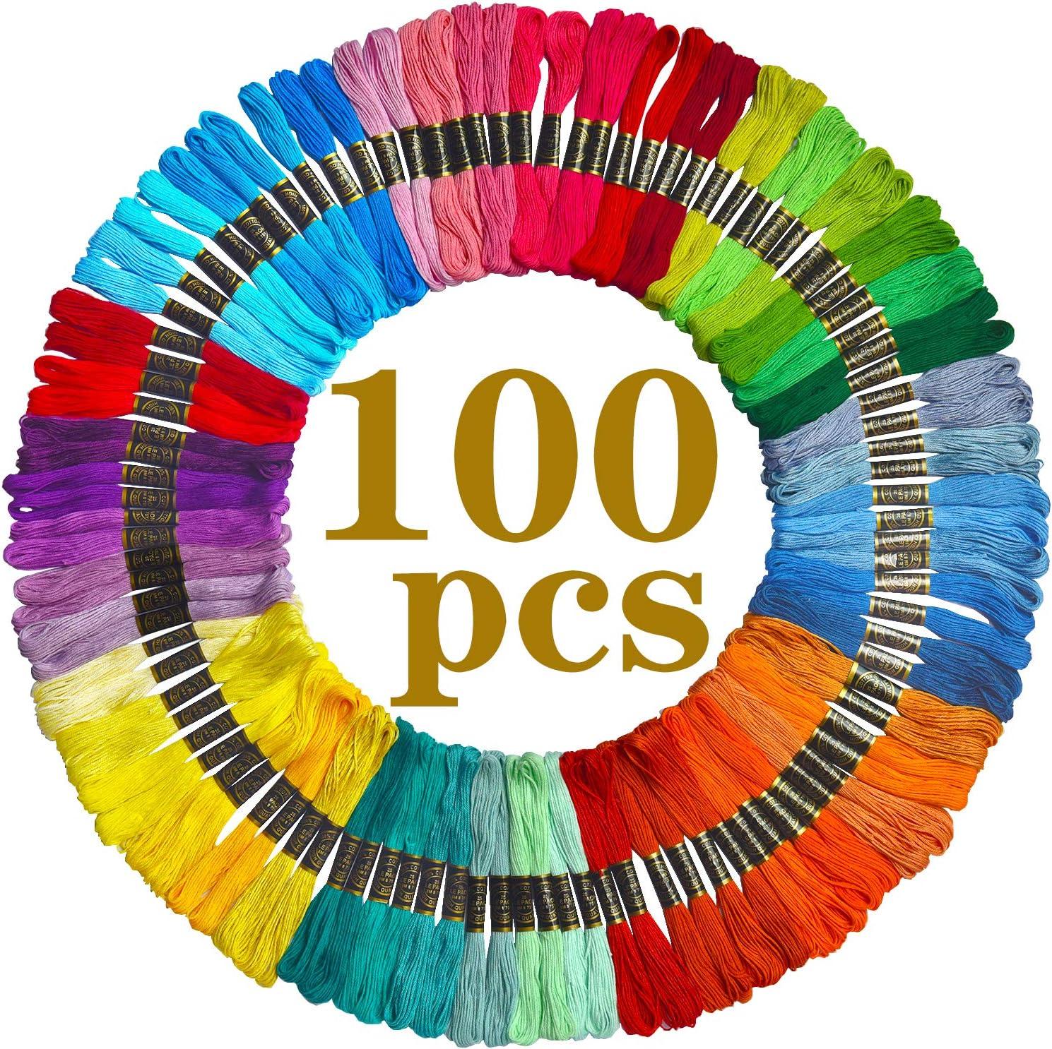 Cross Stitch Threads Premium Rainbow Color Embroidery Floss 136 Skeins Per Pack Crafts Floss Friendship Bracelets Floss