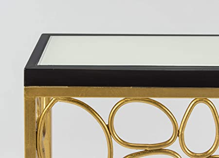 Marvelous Amazon.com: Artmax Furniture 4469 D Console Table, 40x10x34, Goldleaf, Dark  Charcoal Brown With Painted Eggshell White Top: Kitchen U0026 Dining