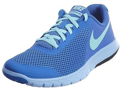 9794b2fac9035 Nike Kids Flex Experience 5 Big Kid Medium Blue/Still Blue/Aluminum/Black  Girls Shoes 6.5