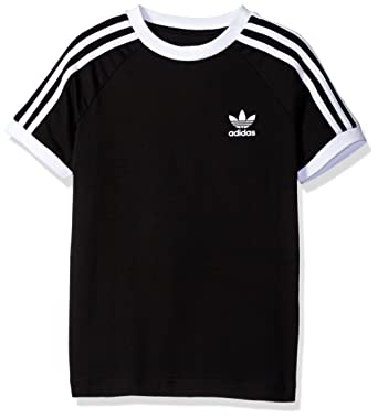 9554ed6b70 adidas Originals Tops Big Boys' California Tee, Black/White, X-Small