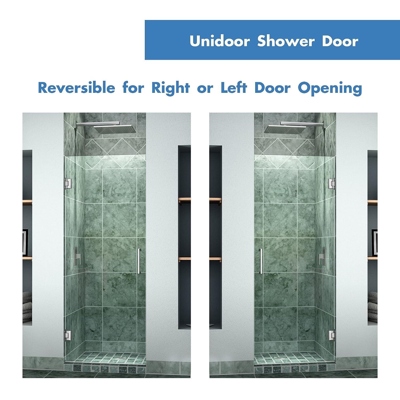 DreamLine Unidoor 28 in. Width Frameless Hinged Shower Door 3/8  Glass Brushed Nickel Finish - - Amazon.com  sc 1 st  Amazon.com & DreamLine Unidoor 28 in. Width Frameless Hinged Shower Door 3/8 ... pezcame.com