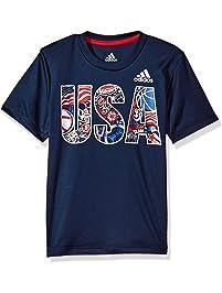 f82d01305 adidas Boys' Short Sleeve Cotton Jersey Graphic T-Shirt
