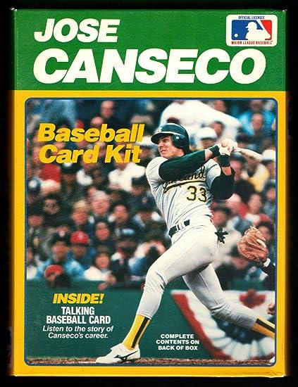 Amazoncom Vintage Jose Canseco Baseball Card Kit Talking