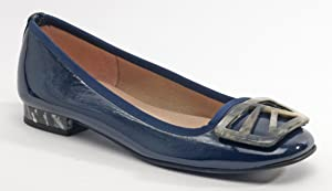 French Sole Women's Talisma Navy Patent Flat 10B