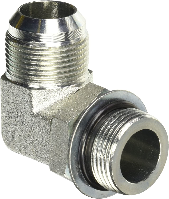 Brennan Industries 6809-20-20-NWO-SS Stainless Steel 90 Degree Elbow Tube Fitting 1-1//4 Male Adjustable O-Ring Boss x 1-1//4 Female JIC Swivel 1-5//8-12 SAE ORB x 1-5//8-12 SAE Thread