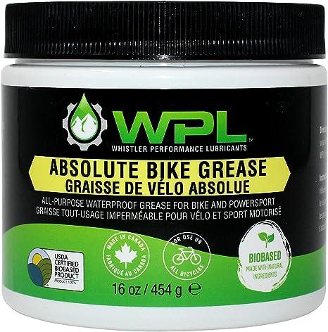 WPL Grasa absoluta para bicicleta, grasa multiusos para montaje, biodegradable, biológica y no tóxica, fórmula para un mantenimiento superior de ...