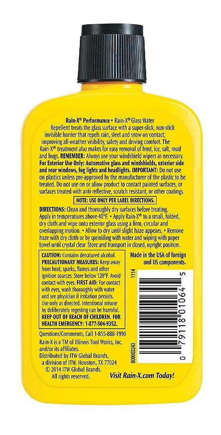Amazon.com: Tratamiento de vidrio Rain-X, paquete de 1 ...