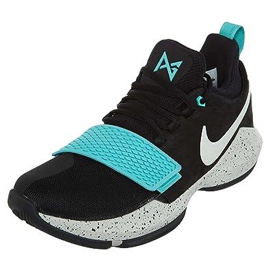 NIKE Mens PG 1 BlackAqua Basketball Shoes ...