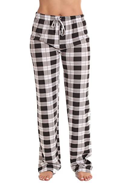 7b5fa9cae1c Just Love 100% Cotton Jersey Women Plaid Pajama Pants/Sleepwear at ...