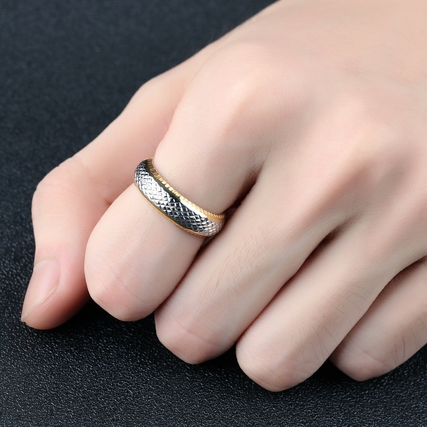 JAJAFOOK Sliver/Gold Tone Stainless Steel Vintage Tail Ring Charm ...
