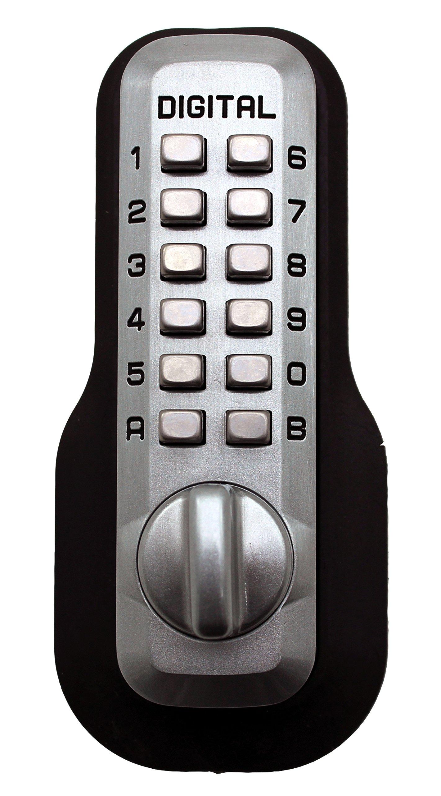 Digital Door Lock M210 Mechanical Keyless Deadbolt, Marine Grade by Lockey USA