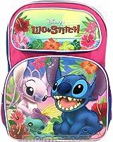 "Disney Lilo and Stitch 16"" Girls/Boys Large School Backpack-07656"