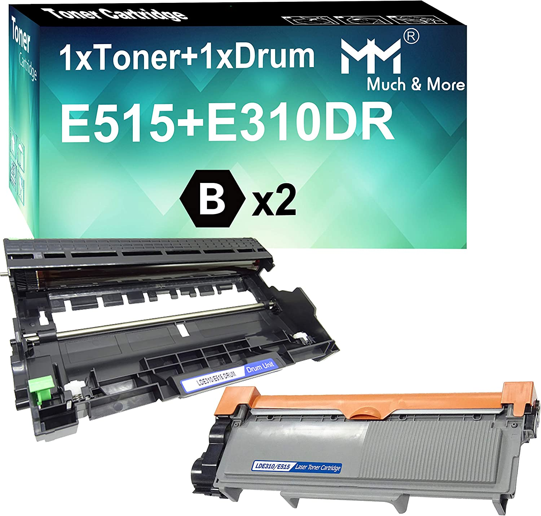 MM MUCH & MORE Compatible Dell 593-BBKD & 593-BBKE Toner Cartridge & Drum Unit Replacement for Dell E310dw E514dw E515dn E515dw Printers (2 Pack, 1 x Toner + 1 x Drum)