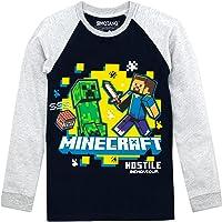 Minecraft - Camiseta de Mangas largas para niño