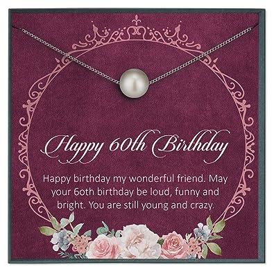 Grace of Pearl - Regalos de 60 cumpleaños para Mujer, Regalo ...