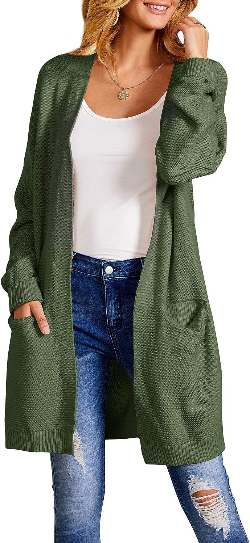 Tutorutor Womens Long Cardigan Sweaters Oversized Cable Chunky Knit Winter Coat Lightweight Kimono Draped Duster