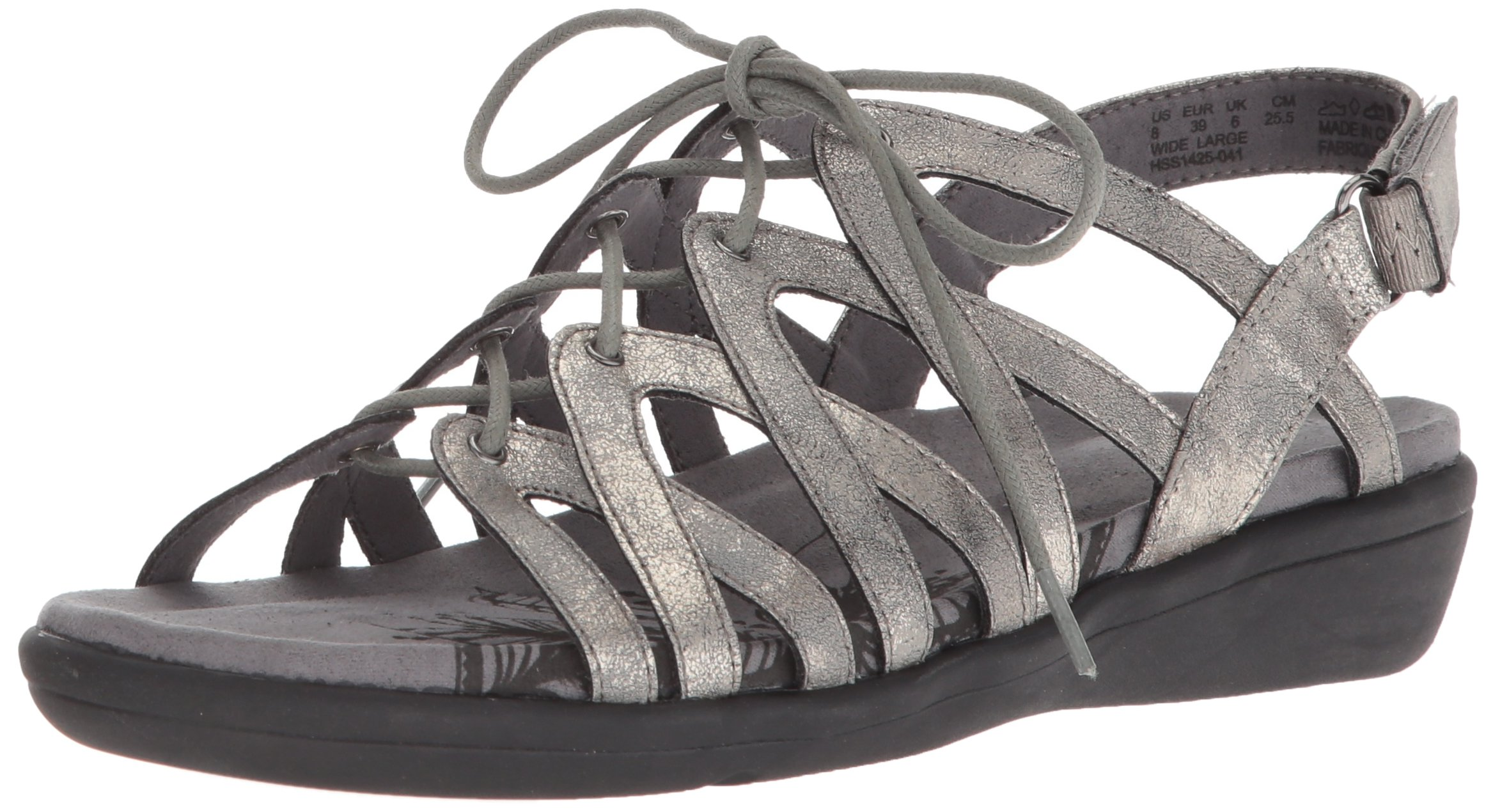 Soft Style by Hush Puppies Women's Paisley Sandal, Dark Pewter Eclipse, 09.5 W US by Soft Style