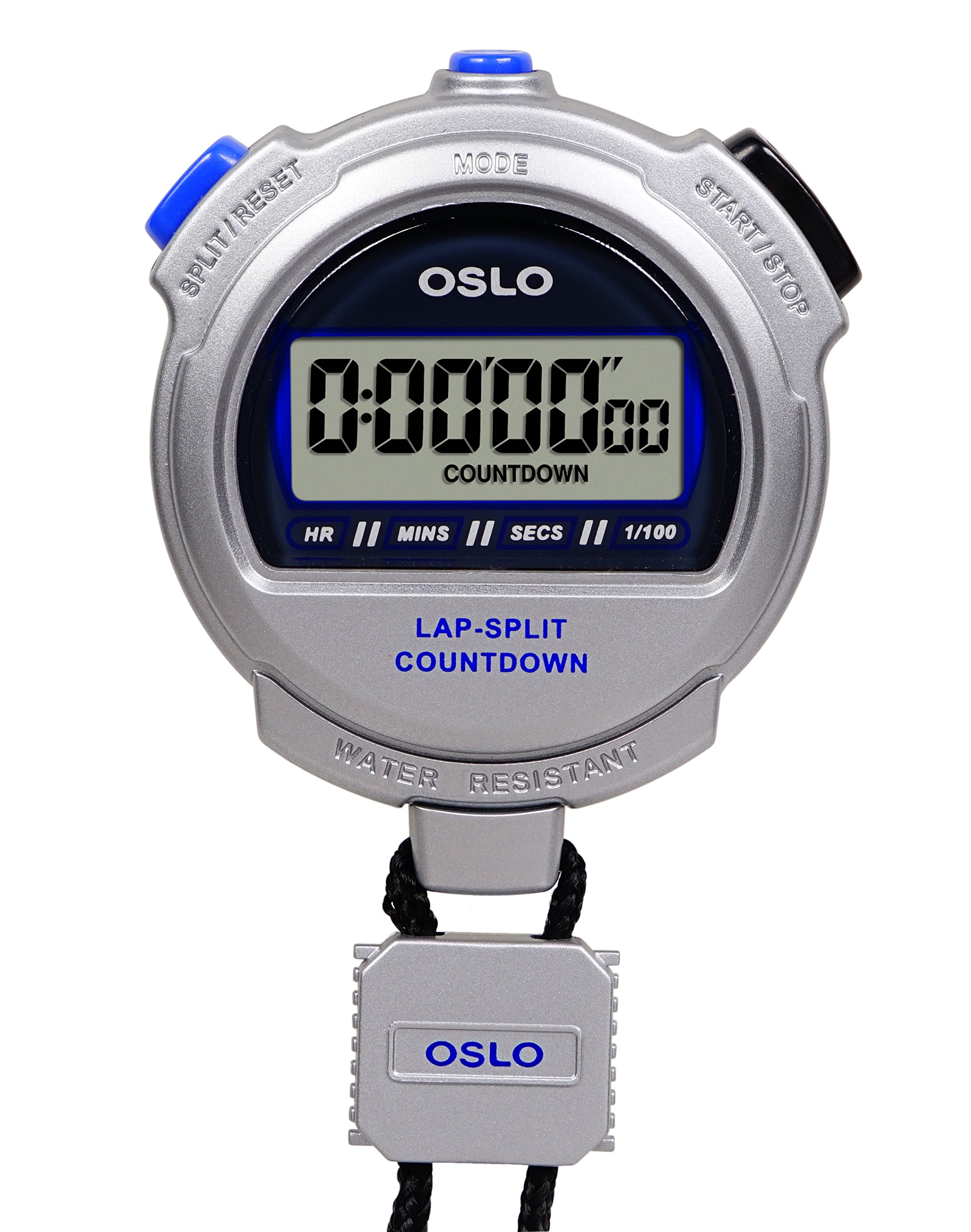 Oslo Silver 2.0 Twin Stopwatch and Countdown Timer by Oslo