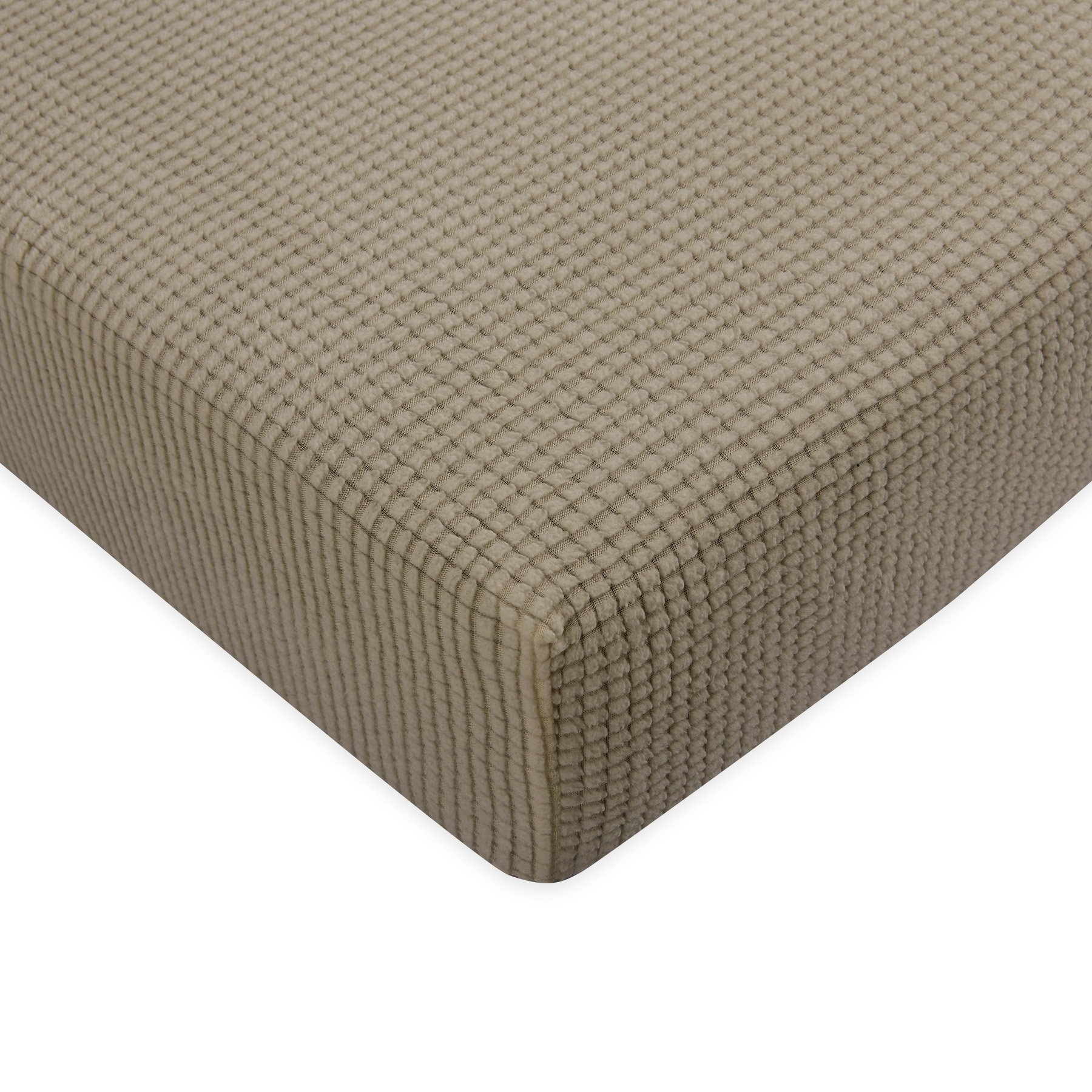 Subrtex Stretch Spandex Protector Slipcover (Loveseat Cushion, Sand)