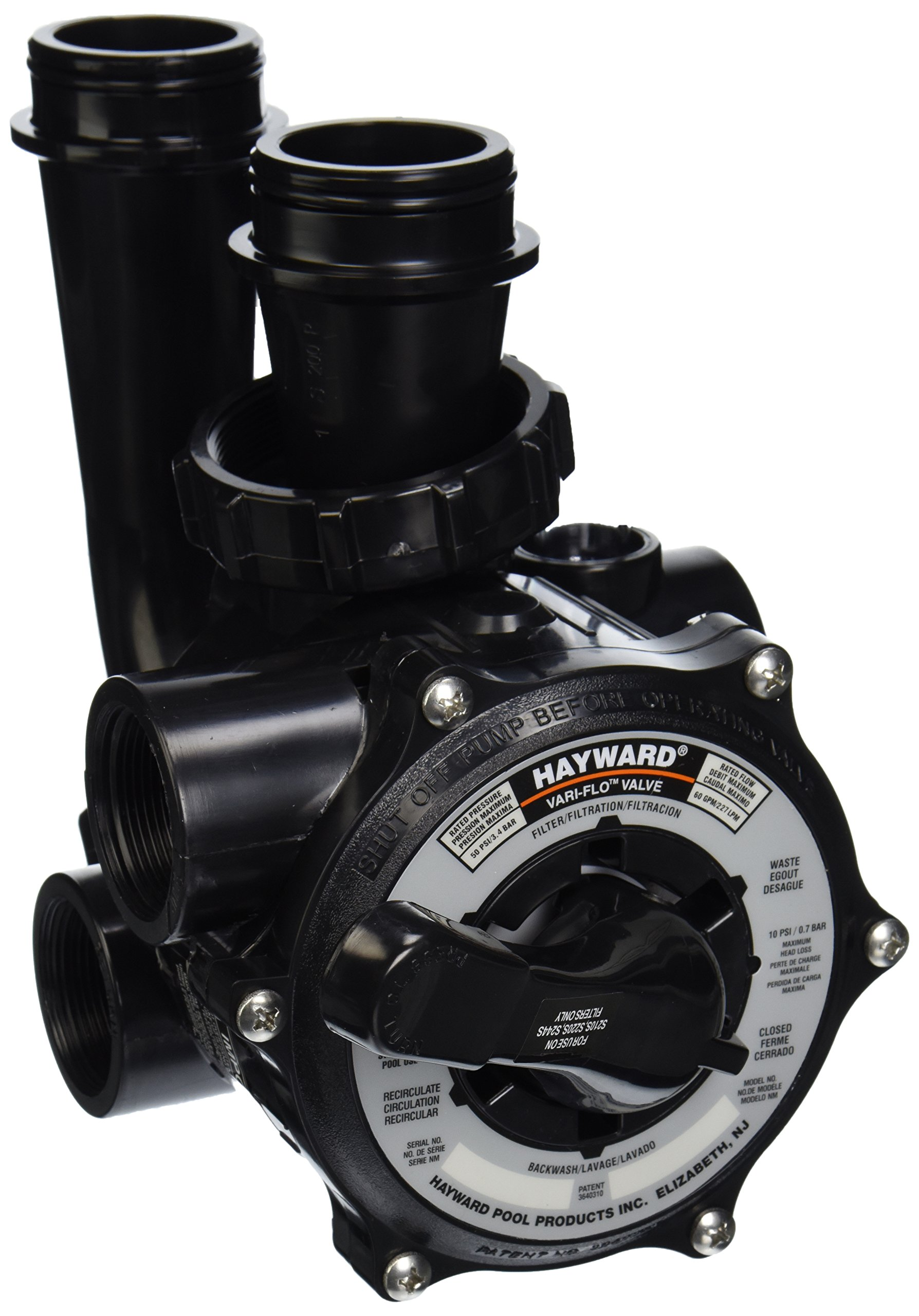 Hayward SP0710X62 Pro-Series Vari-Flo Replacement 1-1/2-Inch Control Valve Assembly with Gauge by Hayward