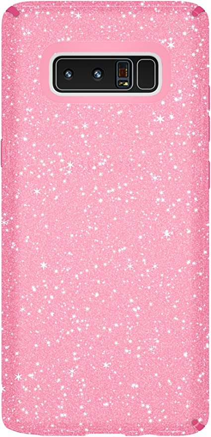 Speck Products Presidio Clear + Glitter Cell Phone Case for Samsung Galaxy Note8 Bella Pink With Gold GlitterBella Pink Presidio Clear + Glitter