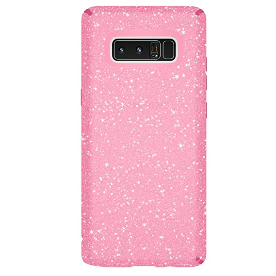 quality design 8ad6a f7fc3 Speck Products Presidio Clear + Glitter Cell Phone Case for Samsung Galaxy  Note8 - Bella Pink With Gold Glitter/Bella Pink Presidio Clear + Glitter